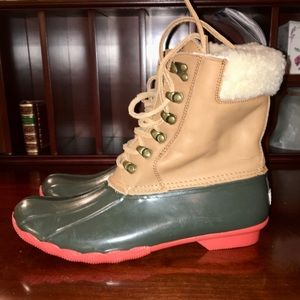 nwob sperry shearling boot